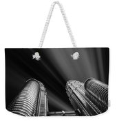 Modern Skyscraper Black And White Picture Weekender Tote Bag by Stefano Senise