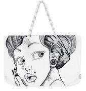 Modified Woman Weekender Tote Bag