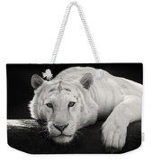 Mohan The White Tiger Weekender Tote Bag