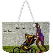 Moher And Child Jogging Weekender Tote Bag