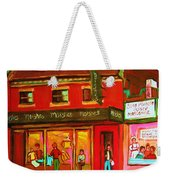 Moishes Steakhouse On The Main Weekender Tote Bag