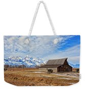 Molten Barn And Tetons 4 Weekender Tote Bag