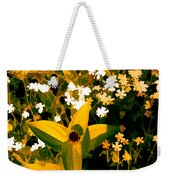 Molten Gold Flowers Weekender Tote Bag