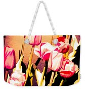 Molten Gold Tulips Weekender Tote Bag