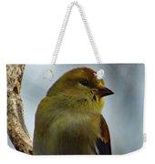 Molting Has Begun - American Goldfinch Weekender Tote Bag