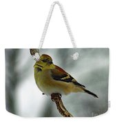 Molting In January? - American Goldfinch Weekender Tote Bag