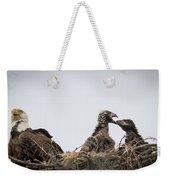 Mom And Little Eaglets Weekender Tote Bag