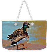 Mom And Pop At The River Weekender Tote Bag