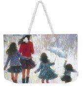 Mom Three Daughters Rain Weekender Tote Bag