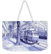 Moment In Prague - Ballpoint Pen Art Weekender Tote Bag