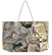 Momma And Baby Gorilla Weekender Tote Bag