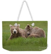 Momma And Cub Weekender Tote Bag