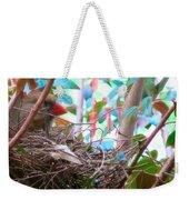Momma Cardinal Nesting Weekender Tote Bag