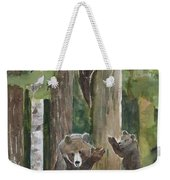 Momma With 4 Bear Cubs Weekender Tote Bag