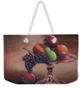 Mom's Pink Dish With Fruit Weekender Tote Bag