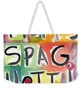 Mom's Spaghetti- Art By Linda Woods Weekender Tote Bag