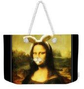 Mona Lisa Bunny Weekender Tote Bag