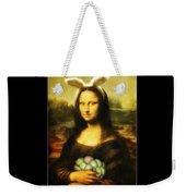Mona Lisa Easter Bunny Weekender Tote Bag