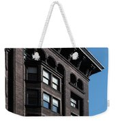 Monadnock Building Cornice Chicago B W Weekender Tote Bag
