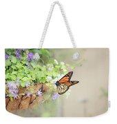 Monarch And Garden Basket Weekender Tote Bag