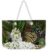 Monarch And The Butterfly Bush  Weekender Tote Bag