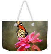 Monarch Butterfly And Pink Zinnia Weekender Tote Bag