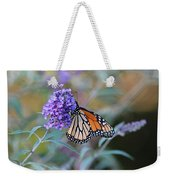 Monarch Butterfly And Purple Flowers Weekender Tote Bag