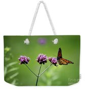 Monarch Butterfly Balanced 2017 Weekender Tote Bag