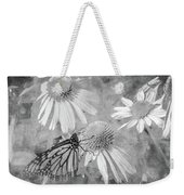 Monarch Butterfly In Black And White Weekender Tote Bag