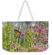 Monarch Butterfly In Joe Pye Weed Weekender Tote Bag