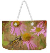 Monarch Butterfly In Pink Weekender Tote Bag