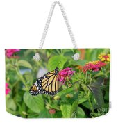 Monarch Butterfly On A Flower  Weekender Tote Bag