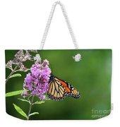 Monarch Butterfly On Butterfly Bush 2011 Weekender Tote Bag