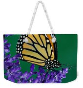Monarch Butterfly On Flower Blossom Weekender Tote Bag