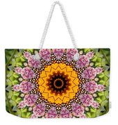 Monarch Butterfly On Milkweed Kaleidoscope Weekender Tote Bag