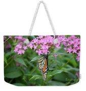 Monarch Butterfly On Pink Flowers  Weekender Tote Bag
