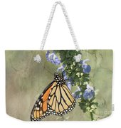 Monarch Butterfly Textured Background Weekender Tote Bag