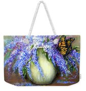 Monarch Of The Lilacs Weekender Tote Bag