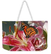 Monarch On A Stargazer Lily Weekender Tote Bag