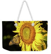 Monarch On A Sunflower Weekender Tote Bag