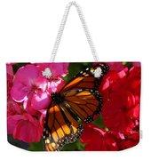 Monarch On Summer Geraniums Weekender Tote Bag