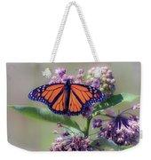 Monarch On The Milkweed Weekender Tote Bag