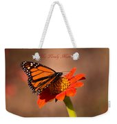 Monarch On Tithonia Mother's Day Gifts Weekender Tote Bag
