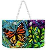 Monarch With Milkweed Weekender Tote Bag