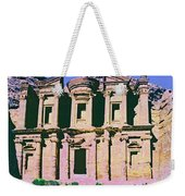 Monastery At Petra Weekender Tote Bag by Dominic Piperata