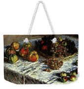 Monet Claude Still Life Apples And Grapes Weekender Tote Bag