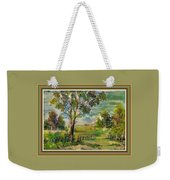 Monetcalia Catus 1 No. 3 Landscape Scene Near Fontainebleau L B With Alt. Decorative Printed Frame. Weekender Tote Bag