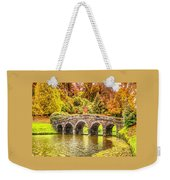 Monetcalia Catus 1 No. 9 - Monet Decides To Paint The Arched Bridge At Stourhead. L A S Weekender Tote Bag