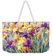 Monet's Iris Garden Weekender Tote Bag