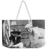Monkey On The Ship Weekender Tote Bag